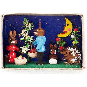 Kleine Figuren & Miniaturen Zündholzschachteln Zündholzschachtel Ostereier verstecken - 4 cm