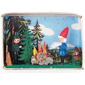 Kleine Figuren & Miniaturen Zündholzschachteln Zündholzschachtel Rumpelstilzchen - 4 cm