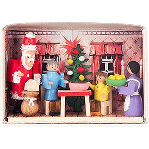 Kleine Figuren & Miniaturen Zündholzschachteln Zündholzschachtel Weihnachten bei uns zu Hause - 4 cm
