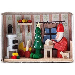 Kleine Figuren & Miniaturen Zündholzschachteln Zündholzschachtel Weihnachtsmannwerkstatt - 4 cm