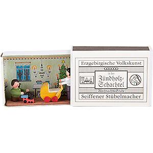 Kleine Figuren & Miniaturen Zündholzschachteln Zündholzschachtel Weihnachtsstube - 3,8 cm