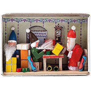 Kleine Figuren & Miniaturen Zündholzschachteln Zündholzschachtel Weihnachtsüberraschung - 4 cm