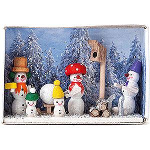 Kleine Figuren & Miniaturen Zündholzschachteln Zündholzschachtel Wintermärchen - 4 cm