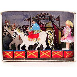 Kleine Figuren & Miniaturen Zündholzschachteln Zündholzschachtel Zirkusbesuch - 4 cm