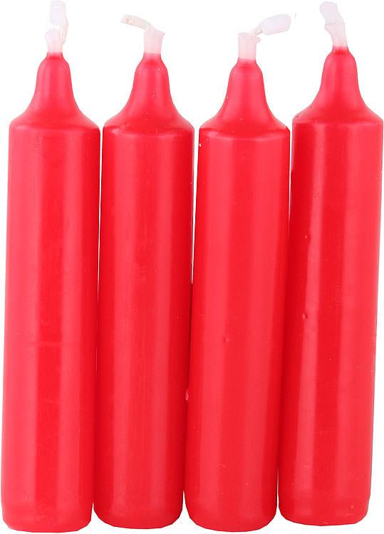 hochwertige pyramidenkerzen rot 2 cm durchmesser von jeka ebersbacher kerzen. Black Bedroom Furniture Sets. Home Design Ideas