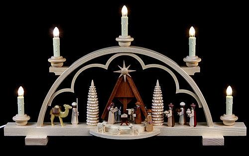 candle arch nativity scene 57 cm 22in by m ller kleinkunst. Black Bedroom Furniture Sets. Home Design Ideas