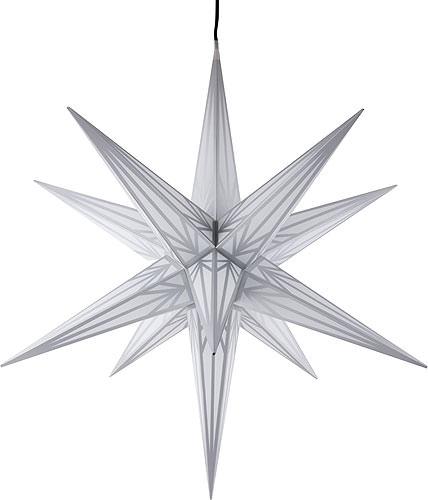 ha lauer weihnachtsstern f r innen und au en wei mit silbermuster inkl beleuchtung 75 cm von. Black Bedroom Furniture Sets. Home Design Ideas