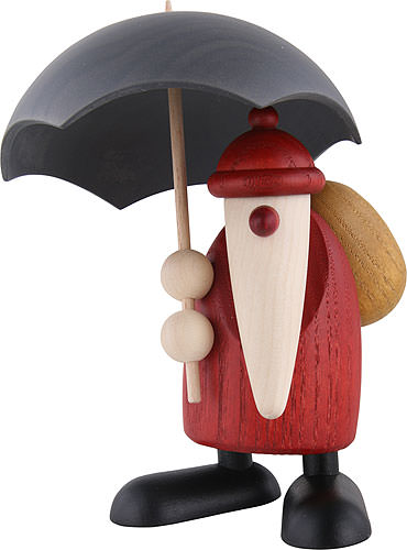 santa claus with umbrella 12 cm by bj rn k hler kunsthandwerk. Black Bedroom Furniture Sets. Home Design Ideas