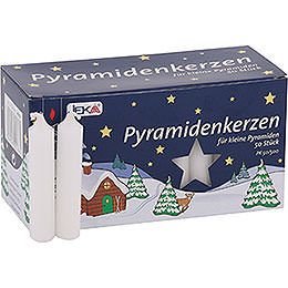 Bundle - 2-Tier Pyramid Nativity plus one pack white candles