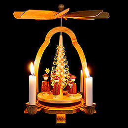 1-Tier Pyramid with Carolers - 24 cm / 9.4 inch