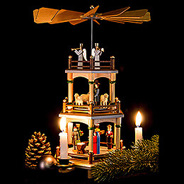 3-Tier Pyramid - Nativity - 35 cm / 13.5 inch