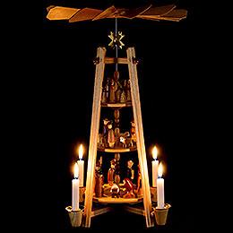 3-stöckige Pyramide Christi Geburt - 44 cm