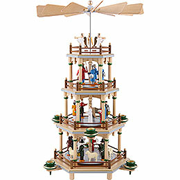 4-Tier Pyramid - Nativity Scene - 45 cm / 18 inch