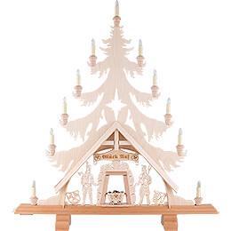Light Triangle - Fir Tree with Miners - 76x86 cm / 29.9x33.9 inch
