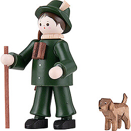 Thiel Figurine - Forester with Dog - coloured - 6 cm / 2.4 inch