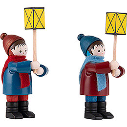 Thiel Figurines - Lantern Children - 2 pieces - coloured - 7 cm / 2.8 inch