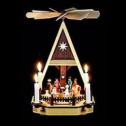 1-Tier Pyramid - Nativity Scene - 34 cm / 13 inch