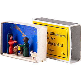 Zündholzschachtel Krippe - 4 cm