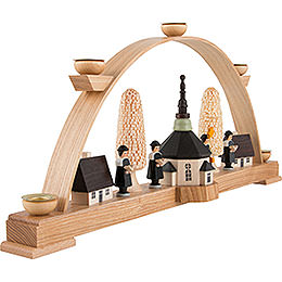 Candle Arch - Seiffen Church with Carolers - 44x19,5 cm / 17x8 inch