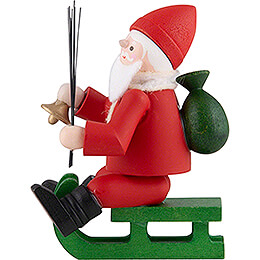 Thiel Figurine - Santa Claus on Sledge - coloured - 6 cm / 2.4 inch