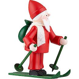 Thiel-Figur Ruprecht auf Ski - rot - 6,5 cm