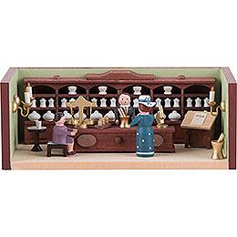 Miniaturstübchen Apotheke mit Apotheker - 4 cm