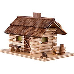 Traditionelles Rauchhaus Waldhütte - 10 cm