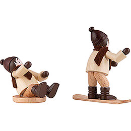 Thiel Figurine - Children with Snowboard and Slider - 6 cm / 2.4 inch