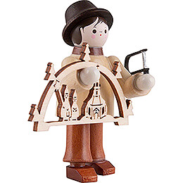 Thiel Figurine - Candle Arch Seller with Jigsaw - natural - 6 cm / 2.4 inch