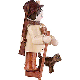 Thiel Figurine - Forester with Dog - natural - 6 cm / 2.4 inch