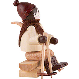 Thiel Figurine - Skier on Bench - natural - 5,5 cm / 2.2 inch
