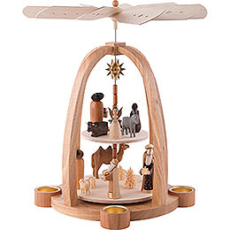 2-Tier Pyramid - Nativity Scene - 41 cm / 16 inch