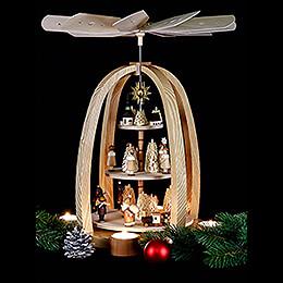 3-stöckige Pyramide Weihnachtszeit - 41 cm
