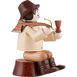 Thiel Figurine - Woodsman sitting on Trunk - natural - 10 cm / 3.9 inch