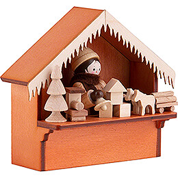 Christmas Market Stall Toys with Thiel Figurine - 8 cm / 3.1 inch