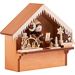 Christmas Market Stall with Thiel Figurine - 8 cm / 3.1 inch
