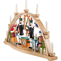 Candle Arch - Ore Mountain Theme - 66x37 cm / 26x15 inch