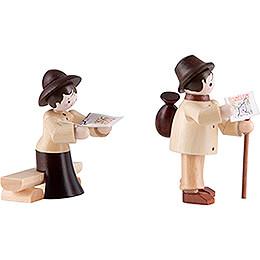 Thiel Figurine - Hiker Couple - natural - 6 cm / 2.4 inch