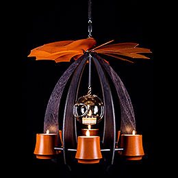 1-Tier Hanging Pyramid NOVA - Anthracite/Orange - 33 cm / 13 inch