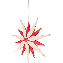 Window Picture - Christmas Star Natural - 47 cm / 18.5 inch