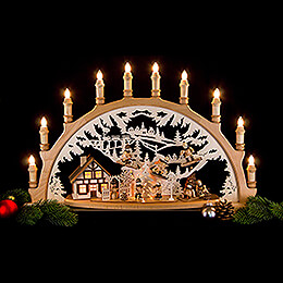 Candle Arch -Winter Children - 67x42x15 cm / 26x16.5x6 inch