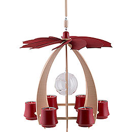 1-Tier Hanging Pyramid NOVA - Maple/Rubyred - 33 cm / 13 inch