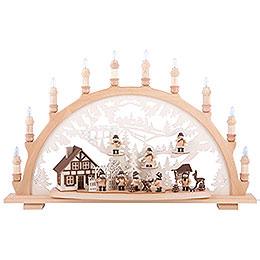 Candle Arch - Lumbermen - 67x42x15 cm / 26x16.5x6 inch
