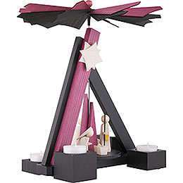 1-Tier Pyramid - Modern Nativity - 30 cm / 12 inch