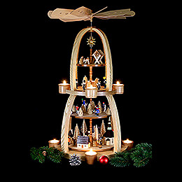 4-Tier Pyramid - Christmas in Seiffen - 69 cm / 27 inch