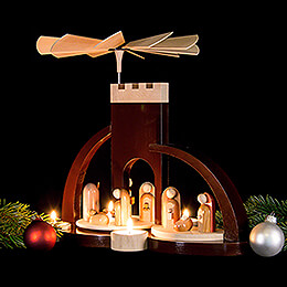 1-Tier Pyramid - Nativity - Modern - 33 cm / 13 inch