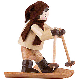 Thiel Figurine - Beginner on Skis - natural - 6,5 cm / 2.6 inch