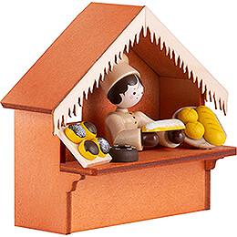 Christmas Market Stall Bakery with Thiel Figurine - 8 cm / 3.1 inch