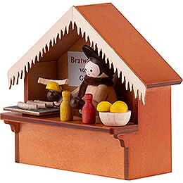 Christmas Market Stall Bratwurst with Thiel Figurine - 8 cm / 3.1 inch