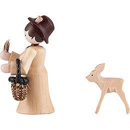 Thiel Figurine - Forester Lady with Deer - natural - 6 cm / 2.4 inch